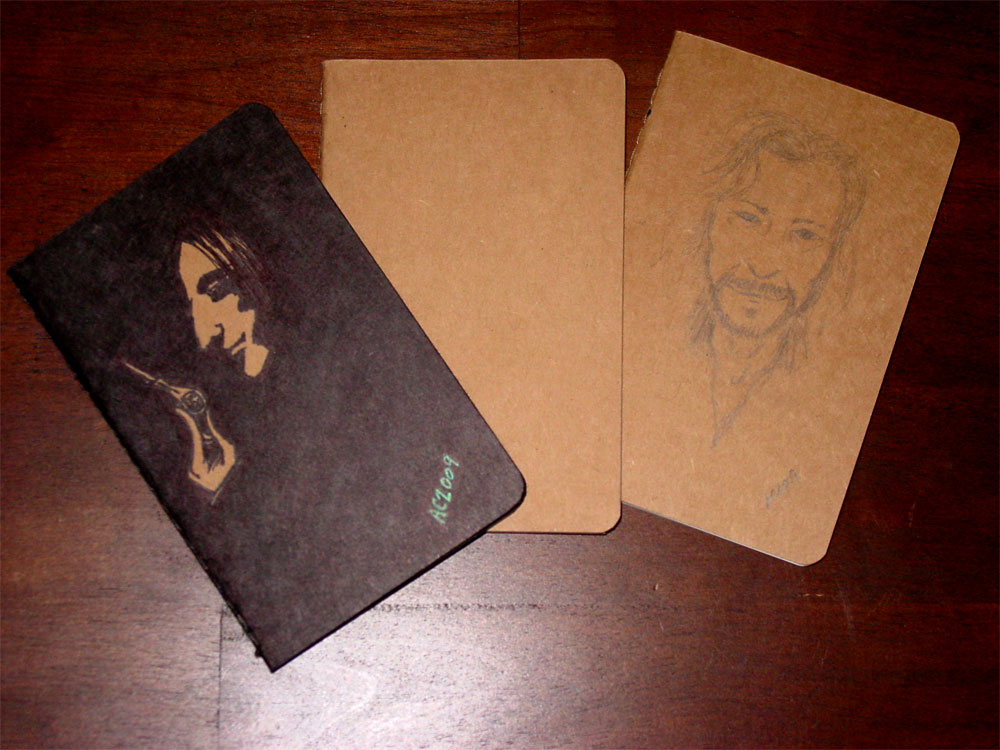 Custom Character Portrait Moleskine Cahier Plain Journals by Amy Crook, $29