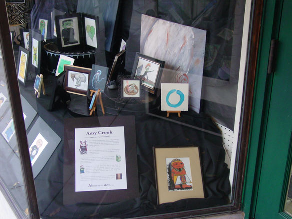 Window of Art by Amy Crook at The Book Shop