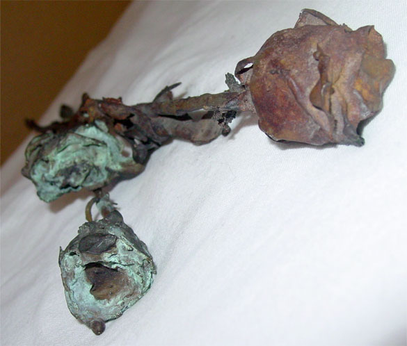 3 Bronze Roses, detail 1, by Amy Crook