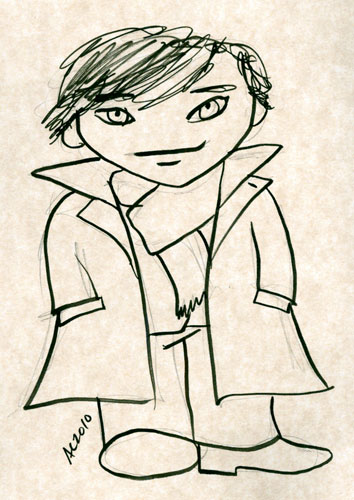 Weeble Sherlock sketch by Amy Crook
