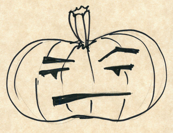 Weeble Pumpkin sketch by Amy Crook