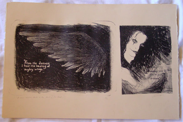 The Beating of Mighty Wings, lithograph by Amy Crook