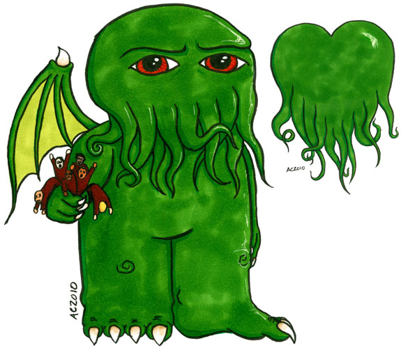 Cthulhu + Heart by Amy Crook