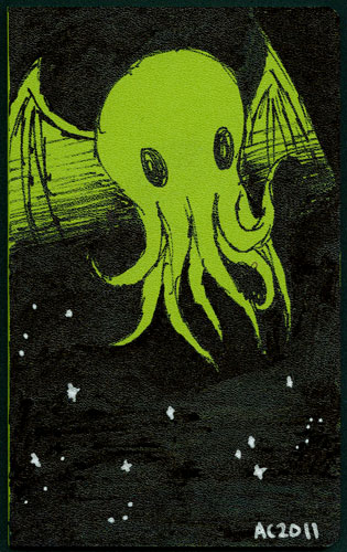 Cthulhu Moleskine Volant customized by Amy Crook