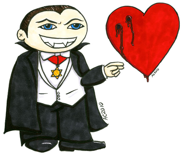 Dracula + Heart by Amy Crook
