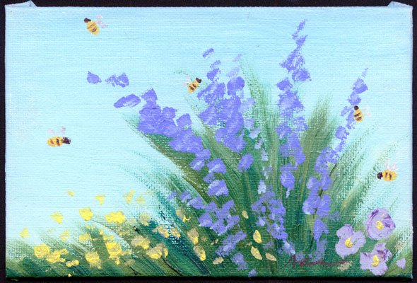 Impressionist Flowers by Amy Crook