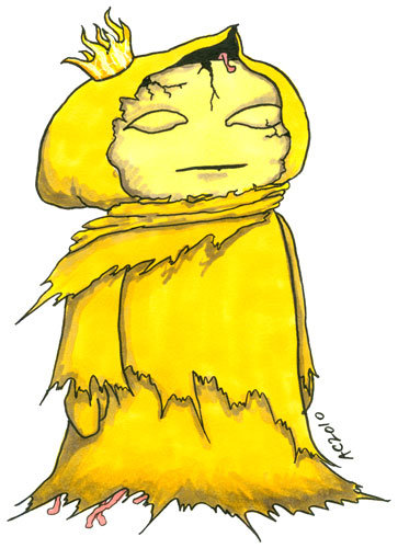 he's the yellowest of all... hastur, hastur, hast- urk!