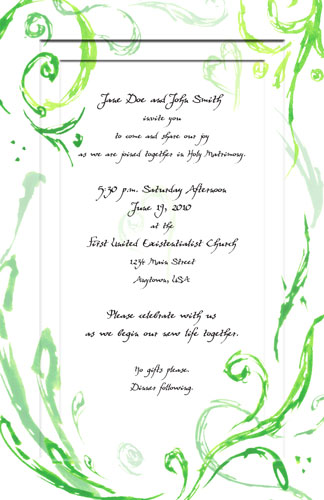 Wedding Invitations by Amy Crook