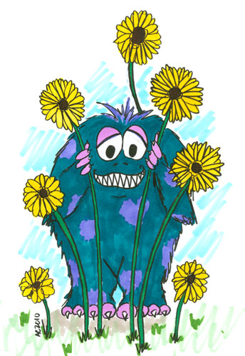 Monster in Daisies by Amy Crook