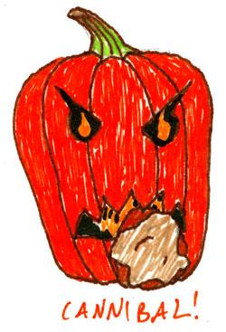 Cannibal Pumpkin by Amy Crook