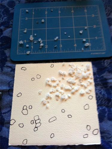 Salt Cell 2, progress 2, by Amy Crook