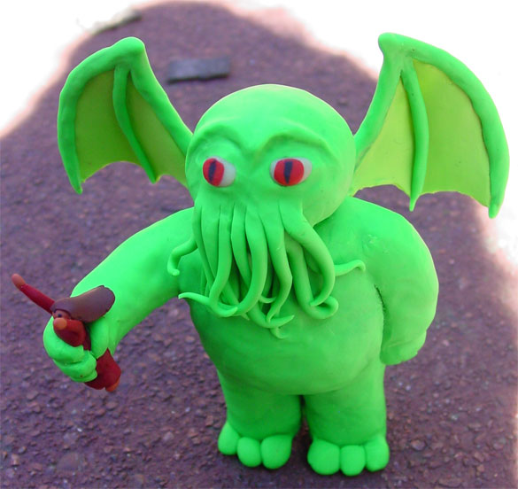 Sculpey Cthulhu by Amy Crook