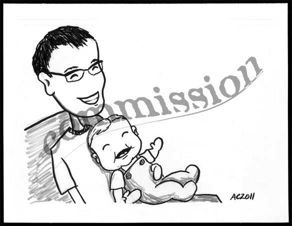 Happy Father's Day sketch by Amy Crook, all rights reserved