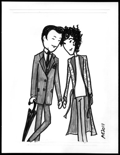 Mycroft and Sherlock sketch by Amy Crook