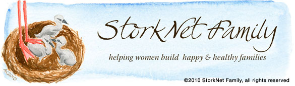 StorkNet site header by Amy Crook