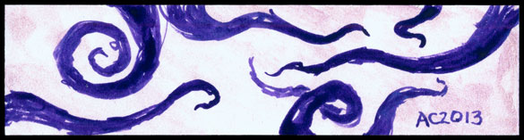 Tentacle Bookmark 5 by Amy Crook