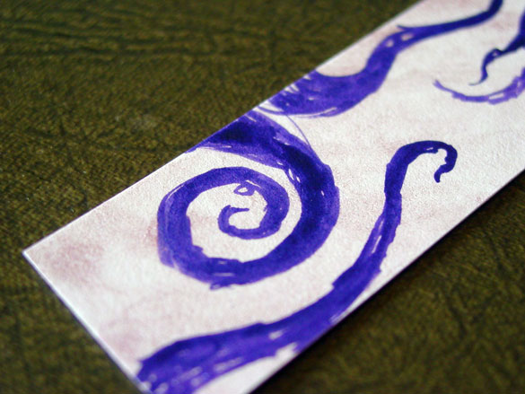 Tentacle Bookmark 5, detail, by Amy Crook