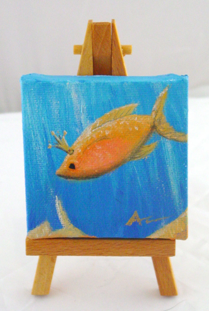 Princess Fish on easel