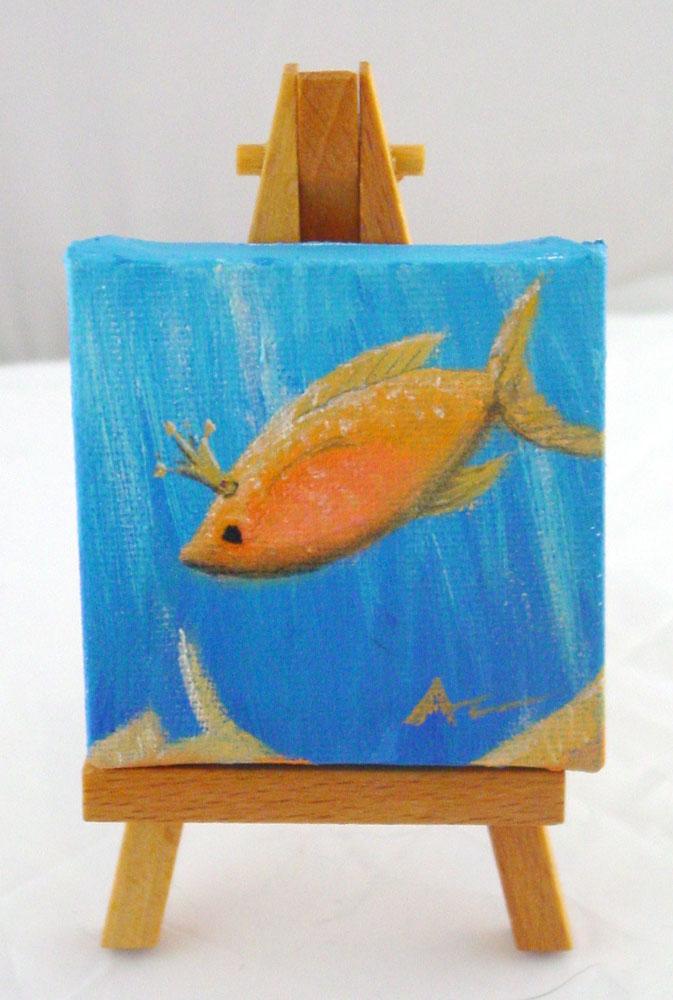 Princess Fish on easel