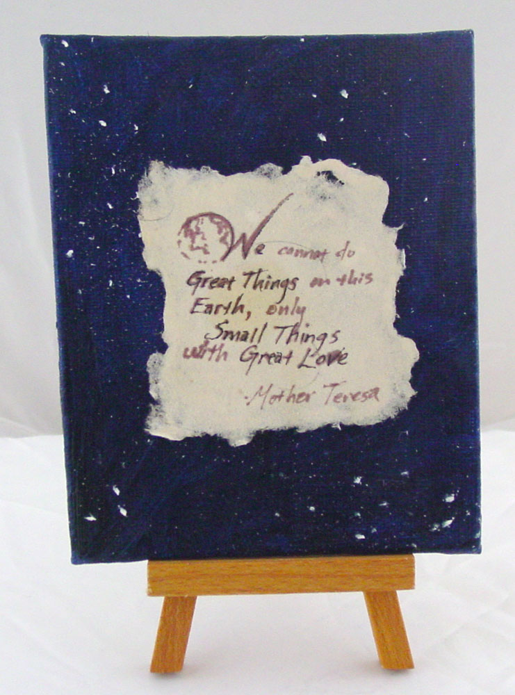 Small Things, Great Love, with easel, by Amy Crook