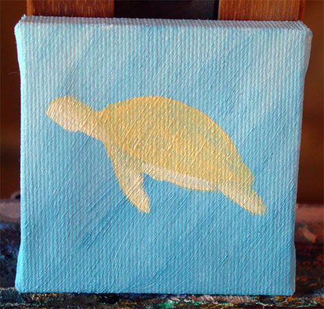 Sea Turtle, step 2, by Amy Crook