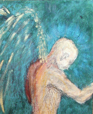 Unreal Angel, detail, by Amy Crook