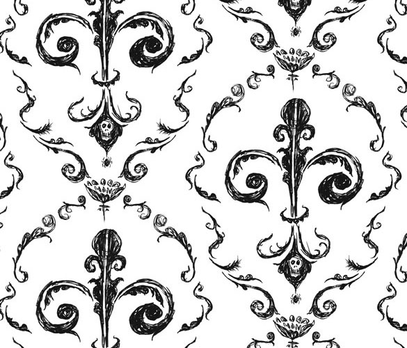 Victorian Wallpaper 1 by Amy Crook