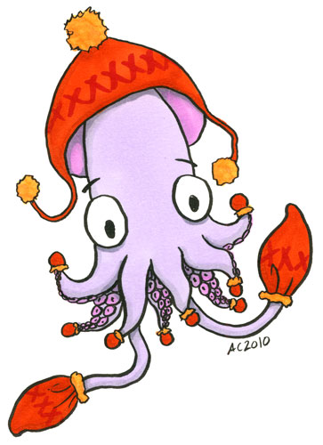 Squid with Mittens by Amy Crook
