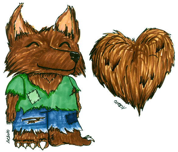 Wolfman + Heart by Amy Crook
