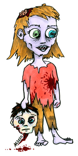 Chibi Zombie Girl by Amy Crook