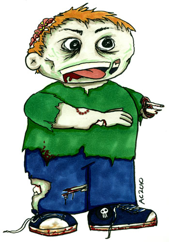 Weeble Zombie by Amy Crook