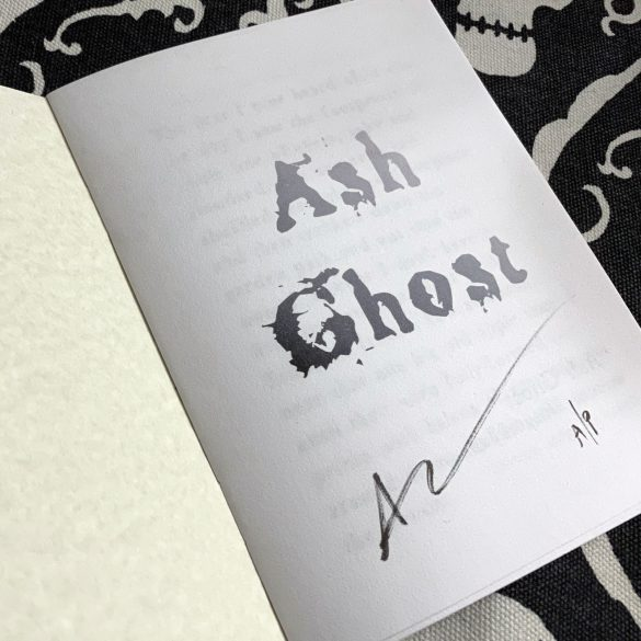 Ash Ghost zine, a/p copy, by Amy Crook