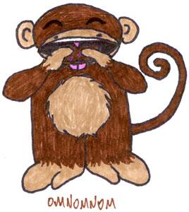 Banana Bread Monkey by Amy Crook OMNOMNOM