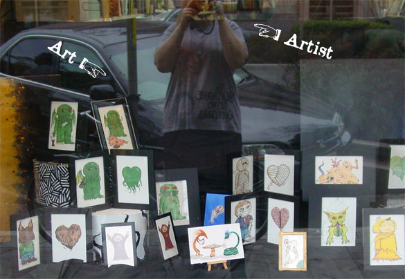 Window at The Book Shop by Amy Crook