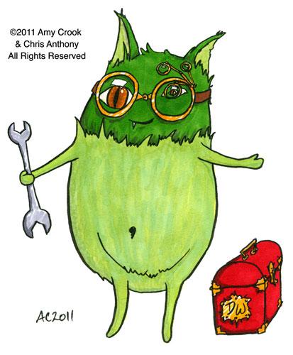 Delight Gremlin, cartoon by Amy Crook