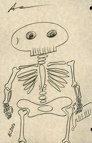Weeble Skeleton sketch by Amy Crook