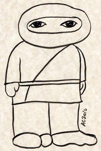Weeble Ninja sketch by Amy Crook