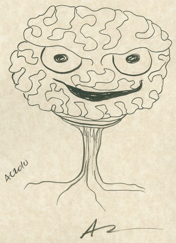 Evil Brain sketch by Amy Crook