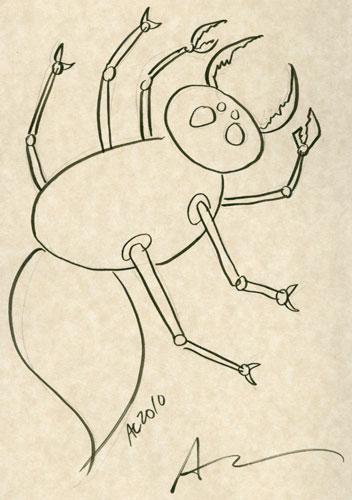 Creepy Bug sketch by Amy Crook