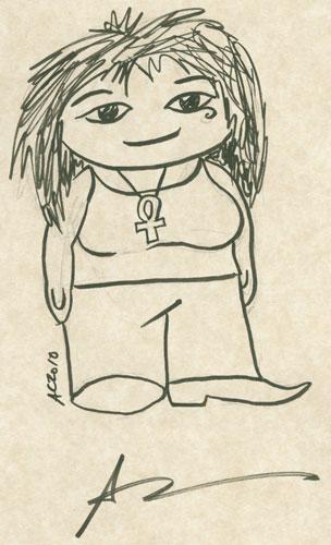 Weeble Death (Sandman) sketch by Amy Crook