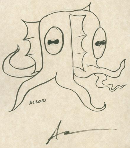 Nyarlathotep sketch by Amy Crook