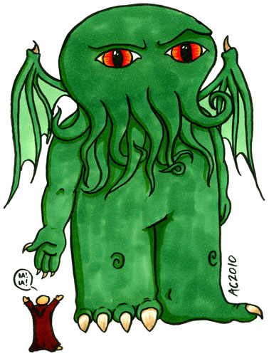 Weeble Cthulhu 2 by Amy Crook