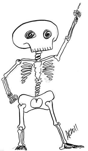 Dancing Skeleton by Amy Crook