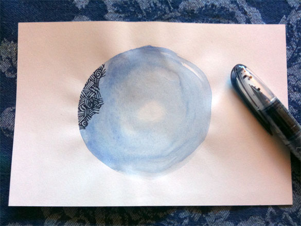 Eye of the Moon, work in progress by Amy Crook