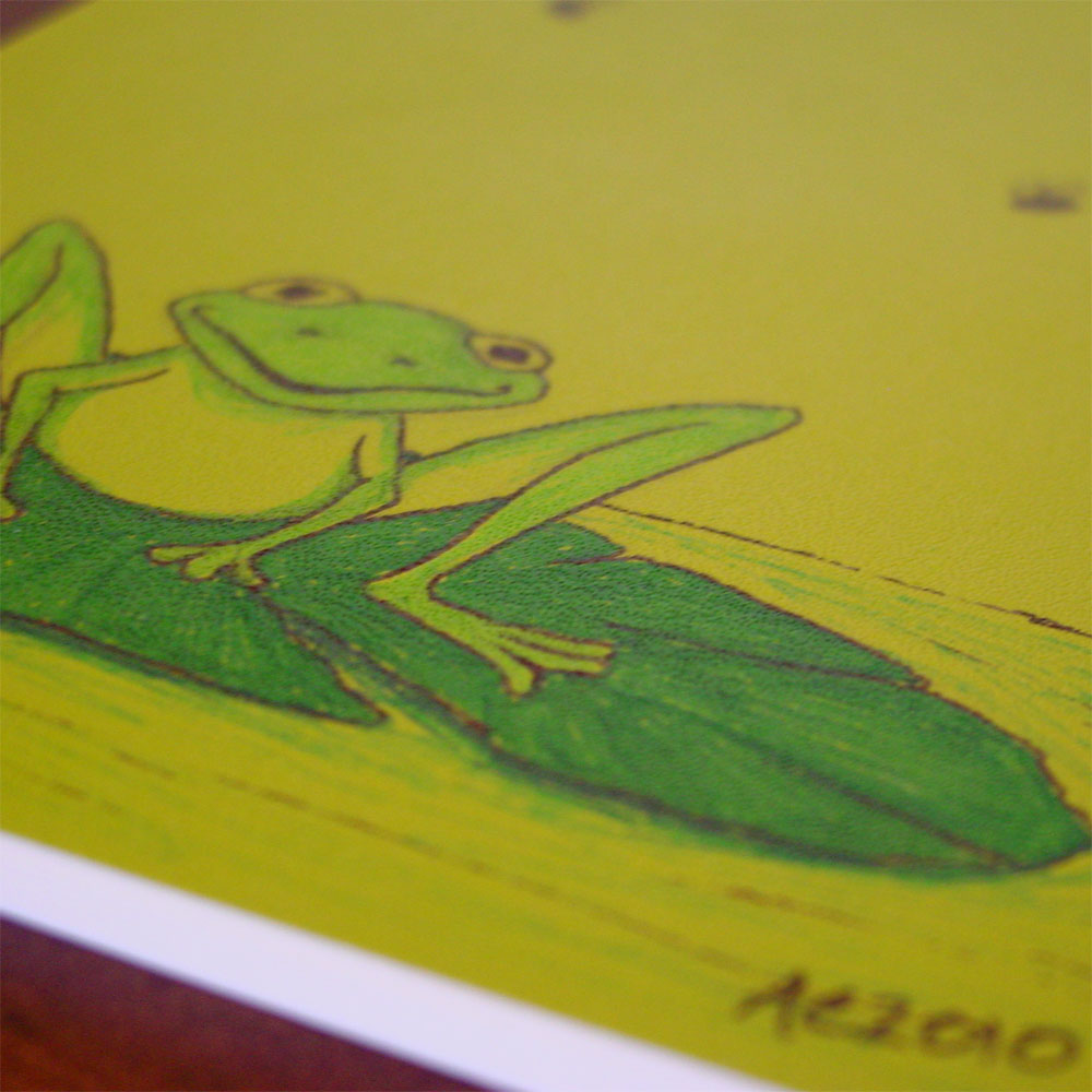 Happy Frog Volant, detail, by Amy Crook