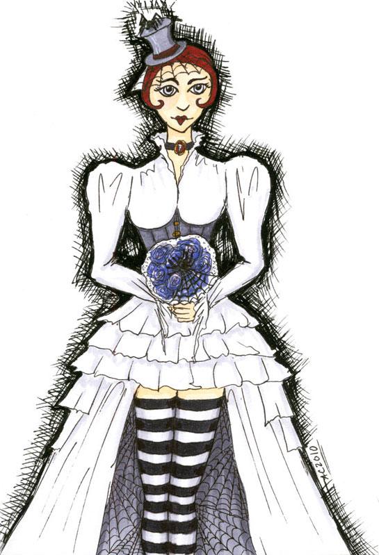 Goth Bride by Amy Crook