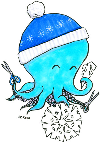 Winter Octopus Commission for Gretchen by Amy Crook
