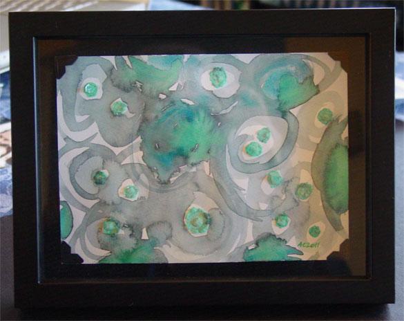 Iridescence, framed art by Amy Crook