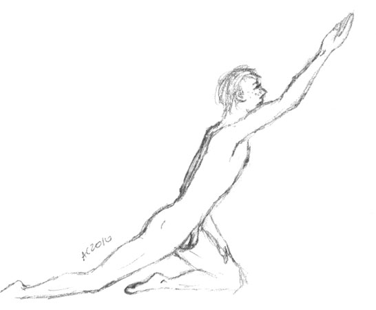 Nude Man Reaching by Amy Crook