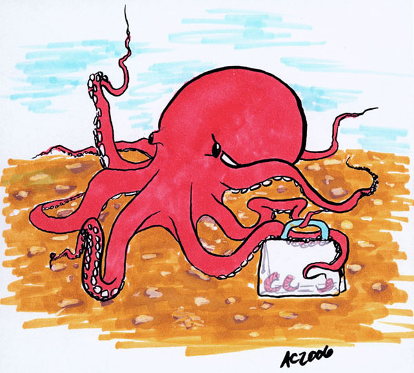 Pink Octopus by Amy Crook